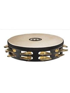 Meinl: Headed Super-Dry Studio Tambourines 2 Row Version - Black Instruments | Percussion