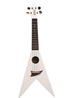 Mahalo: V-Shaped Ukulele - White Instruments   Ukulele