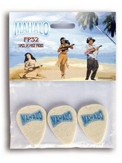 Mahalo: FP32 Felt Ukulele Plectrums - 3 Pack  | Guitar