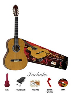 Valencia: 3/4 Size Classical Guitar Pack Instruments | Classical Guitar