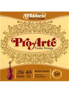 D'Addario: Pro-Arte Violin String Set 4/4 Scale - Medium Tension  | Violin