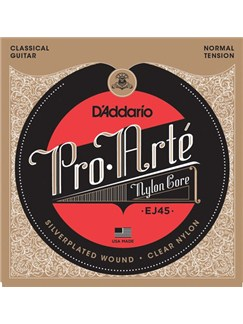 D'Addario: EJ45 Pro-Arte Nylon Classical Guitar Strings, Normal Tension  | Classical Guitar