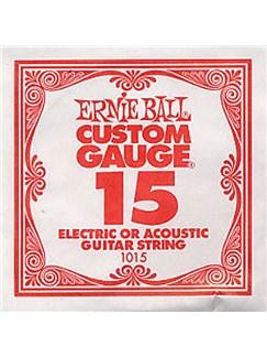 Ernie Ball: Plain Steel Single String (.015)    Guitar