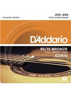 D'Addario: EZ900 85/15 Bronze Acoustic Guitar Strings, Extra Light, 10-50  | Acoustic Guitar
