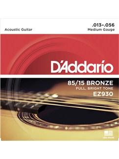 D'Addario: EZ930 85/15 Bronze Acoustic Guitar Strings, Medium, 13-56  | Acoustic Guitar