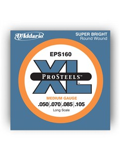 D'addario: EPS160 XL ProSteels Medium Round Wound Bass Guitar String Set  | Bass Guitar