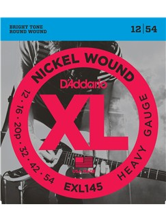 D'Addario: EXL145 Heavy XL Nickel Round Wound Electric Guitar Strings - 12-54  | Electric Guitar