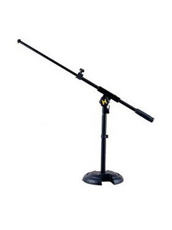 Hercules: Quik-N-EZ Microphone Mini Boom Stand With Die-Cast H-Base  |