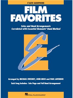 Essential Elements Film Favorites - Alto Saxophone Books | Alto Saxophone