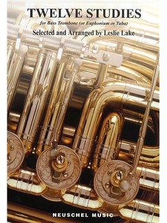 Twelve Studies For Bass Trombone Books | Trombone or Euphonium or Tuba