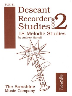 Eighteen Melodic Studies Books | Descant Recorder