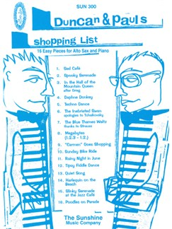Duncan And Pauls Shopping List Books | Saxophone