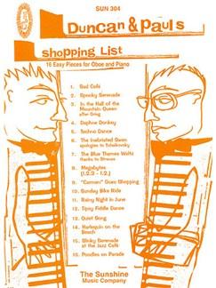 Duncan & Pauls Shopping List Books | Oboe