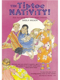 Sheila Wilson: Tiptoe Nativity! - Music Book Books | Piano, Vocal & Guitar (with Chord Symbols)