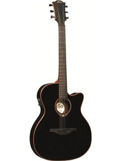 LAG: Tramontane T100ASCEBLK - Slim-line Auditorium Cutaway Electro-Acoustic Guitar Instruments | Electro-Acoustic Guitar