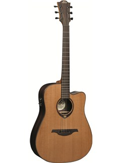 LAG: Tramontane T300DCE - Dreadnought Cutaway Electro Acoustic Guitar Instruments | Electro-Acoustic Guitar