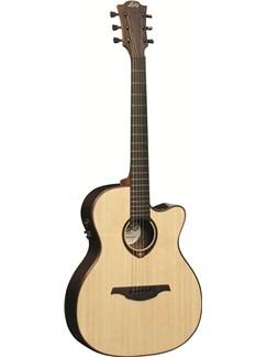 LAG: Tramontane T400ACE - Auditorium Cutaway Electro Acoustic Guitar Instruments | Electro-Acoustic Guitar
