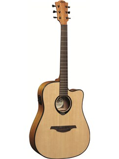 LAG: Tramontane T66DCE - Dreadnought Cutaway Electro Acoustic Guitar Instruments | Electro-Acoustic Guitar