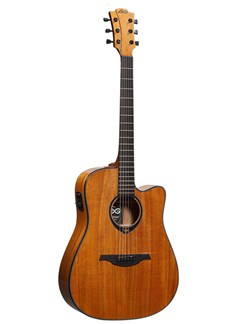 LAG Tramontane T77DCE Mahogony Dreadnought Electro Acoustic Guitar Instruments | Guitar