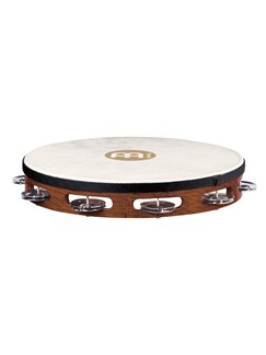 Meinl: Headed Tambourine Steel Jingles - African Brown Instruments | Percussion