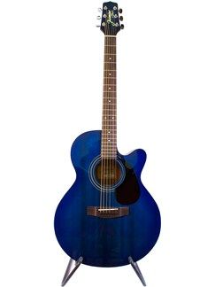 Takamine Jasmine: S-34C Orchestra Cutaway Acoustic Guitar - Limited Edition Blue Instruments | Acoustic Guitar