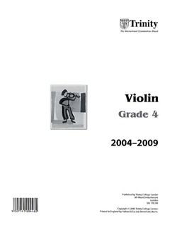 Trinity College London: Violin 2004-2009 Grade 4 (Part) Books | Violin
