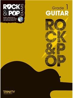 Trinity College London: Rock & Pop Guitar - Grade 1 Books and CDs | Guitar
