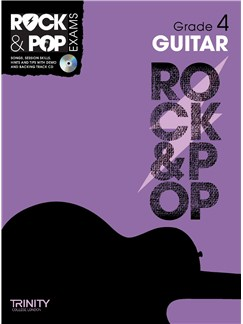 Trinity College London: Rock & Pop Guitar - Grade 4 Books and CDs | Guitar