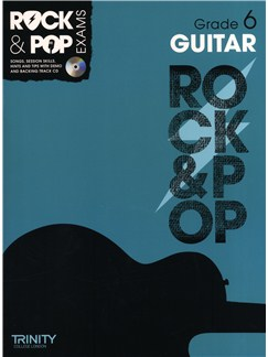 Trinity College London: Rock & Pop Guitar - Grade 6 Books and CDs | Guitar