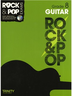 Trinity College London: Rock & Pop Guitar - Grade 8 Books and CDs | Guitar
