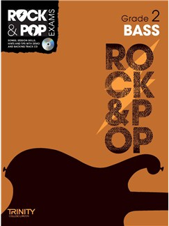 Trinity College London: Rock & Pop Bass Guitar - Grade 2 Books and CDs | Bass Guitar