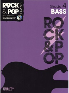 Trinity College London: Rock & Pop Bass Guitar - Grade 4 Books and CDs | Bass Guitar