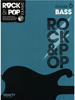 Trinity College London: Rock & Pop Bass Guitar - Grade 6 Books and CDs | Bass Guitar