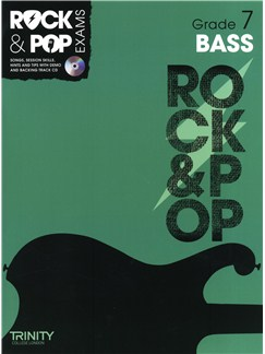 Trinity College London: Rock & Pop Bass Guitar - Grade 7 Books and CDs | Bass Guitar
