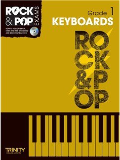 Trinity College London: Rock & Pop Keyboard - Grade 1 Books and CDs | Keyboard