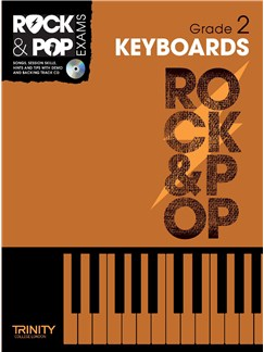 Trinity College London: Rock & Pop Keyboard - Grade 2 Books and CDs | Keyboard