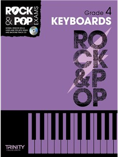 Trinity College London: Rock & Pop Keyboard - Grade 4 Books and CDs | Keyboard