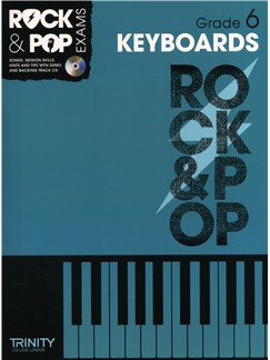 Trinity College London: Rock & Pop Keyboard - Grade 6 Books and CDs | Keyboard