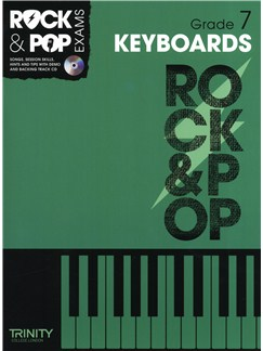 Trinity College London: Rock & Pop Keyboard - Grade 7 Books and CDs | Keyboard