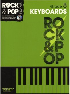 Trinity College London: Rock & Pop Keyboards - Grade 8 Books and CDs | Keyboard