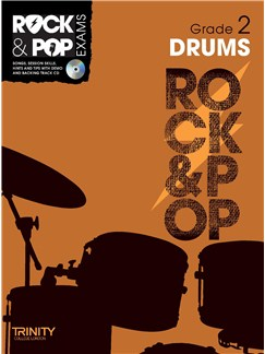 Trinity College London: Rock & Pop Drums - Grade 2 Books and CDs | Drums