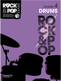 Trinity College London: Rock & Pop Drums - Grade 4 Books and CDs | Drums