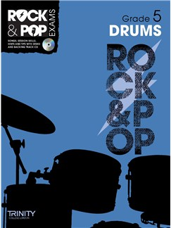 Trinity College London: Rock & Pop Drums - Grade 5 Books and CDs | Drums