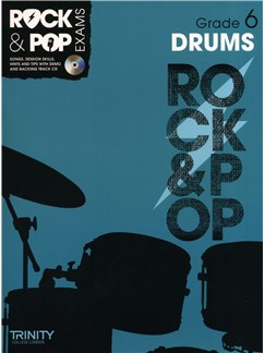 Trinity College London: Rock & Pop Drums - Grade 6 Books and CDs | Drums