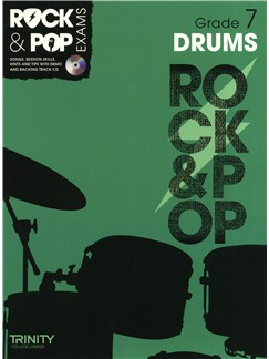 Trinity College London: Rock & Pop Drums - Grade 7 Books and CDs | Drums
