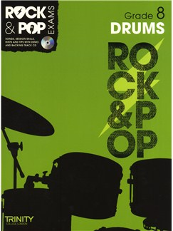 Trinity College London: Rock & Pop Drums - Grade 8 Books and CDs | Drums