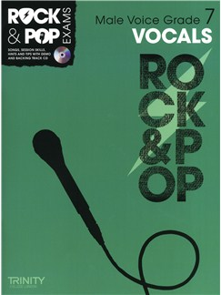 Trinity College London: Rock & Pop Male Voice - Grade 7 Books and CDs | Low Voice