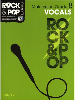 Trinity College London: Rock & Pop Male Voice - Grade 8 Books and CDs | Low Voice