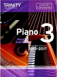 Trinity College London: Piano Exam Pieces & Exercises 2015-2017 - Grade 3 (Book/CD) Books and CDs | Piano
