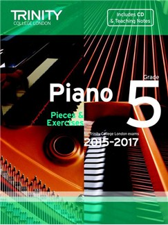 Trinity College London: Piano Exam Pieces & Exercises 2015-2017 - Grade 5 (Book/CD) Books and CDs | Piano